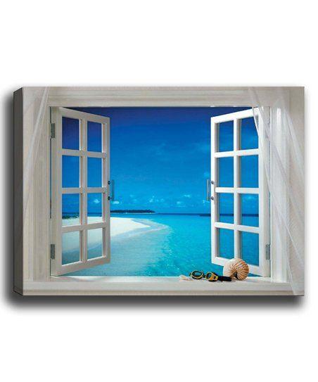 Tablo Center Open Seaside Window Wrapped Canvas | zulily