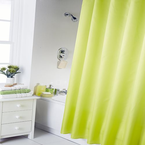 29 best pop of color vibrant table top images on for Plain pink shower curtain