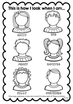 This worksheet is from my Exploring Emotions BUNDLEIt encourages students to explore all of the facial features as our emotions change.If you have any concerns or queries please contact me.For latest products, product updates, teaching ideas and more...                                                                                                                                                                                 More