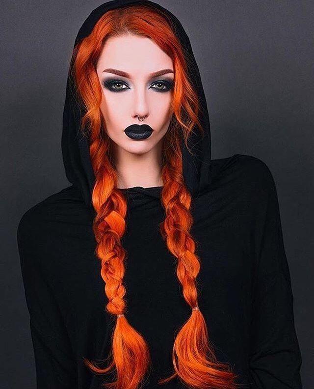 orange & peach hair