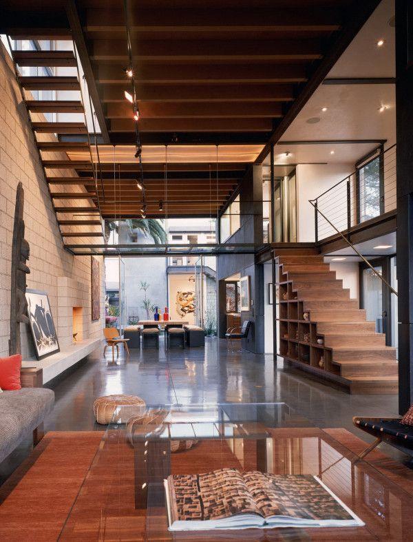 Espacios abiertos/combinación ladrillo, cemento y madera