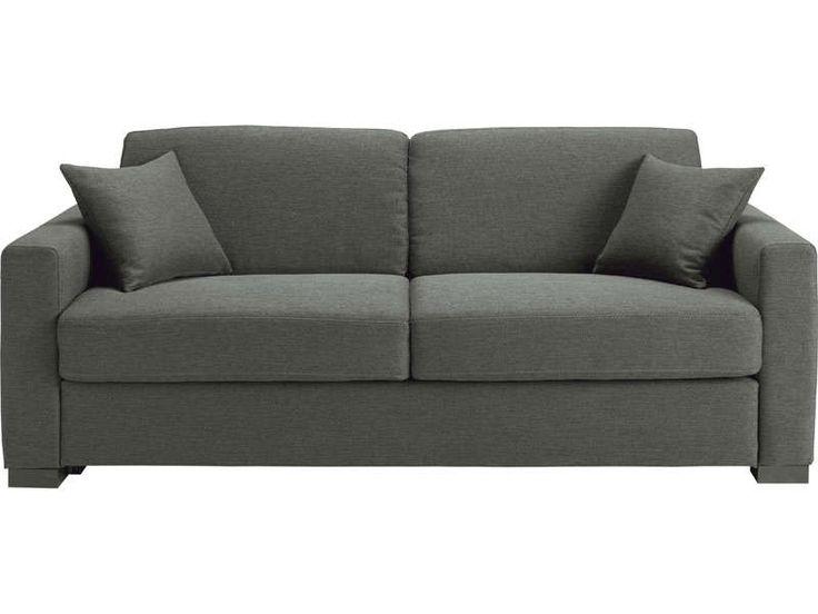 canap convertible 2 places matelas 10 cm soflit coloris gris vente de canap droit. Black Bedroom Furniture Sets. Home Design Ideas