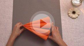 Napkin folding movies from Duni - Double Heart