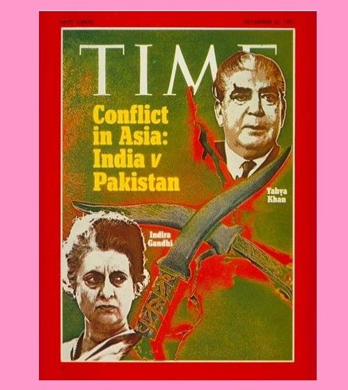 Old and rare magazines about 1971 Indo-Pak War - Yahya Khan and Indra Gandhi on the Cover of Time Magazine, December 6, 1971 edition - Rare magazines