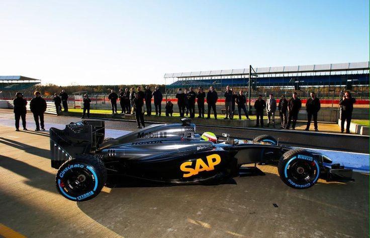 The first shots of the McLaren Honda. A new era has begun folks - at Silverstone 15/11/2014
