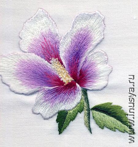 Needle painting embroidery: