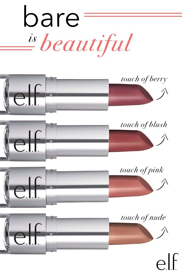Create a flawless, natural look with this lightweight lipstick from E.L.F. Cosmetics. Enhanced with Vitamin E and Shea butter for moisture, these lipsticks provide a soft, natural looking finish. Bring the colors together for a customized hue or use a little on the cheek as blush! See them all at ElfCosmetics.com.