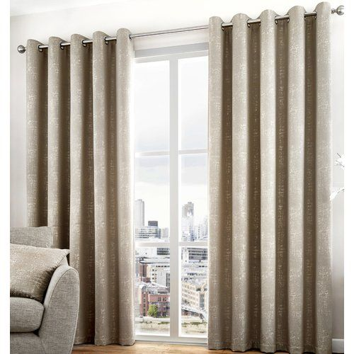 Hanover Eyelet Room Darkening Curtains Wrought Studio Size Width
