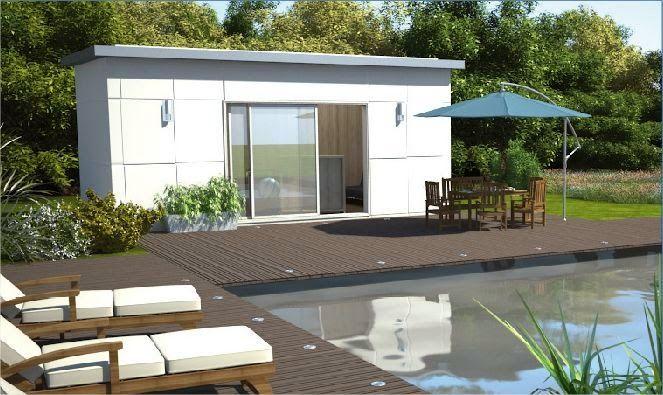 Pour un pool house pratique et joli !