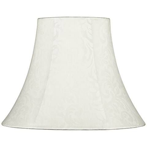 Brentwood Off-White Damask Pattern Lamp Shade 7x14x11 (Uno)
