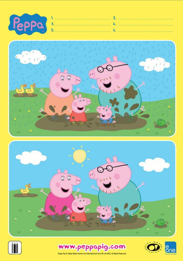 Peppa Muddy Puddles Spot the Difference