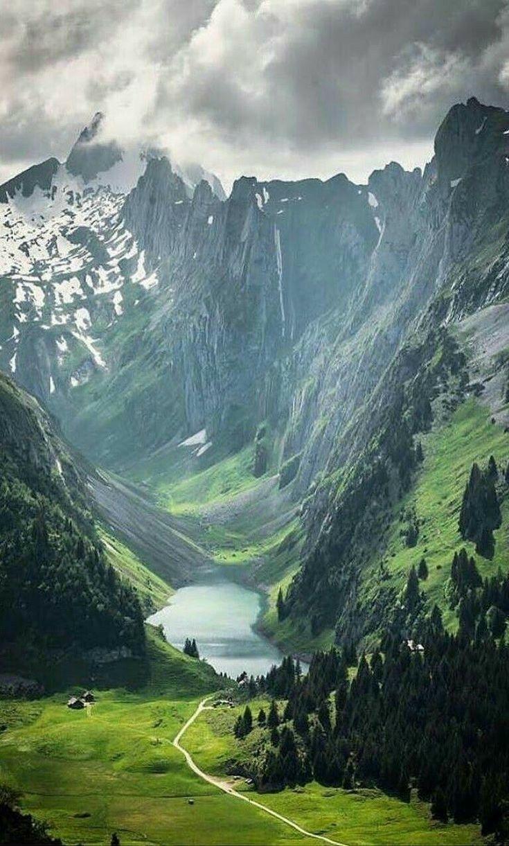F 228 Lensee Lake Alpstein Range Appenzell Switzerland In