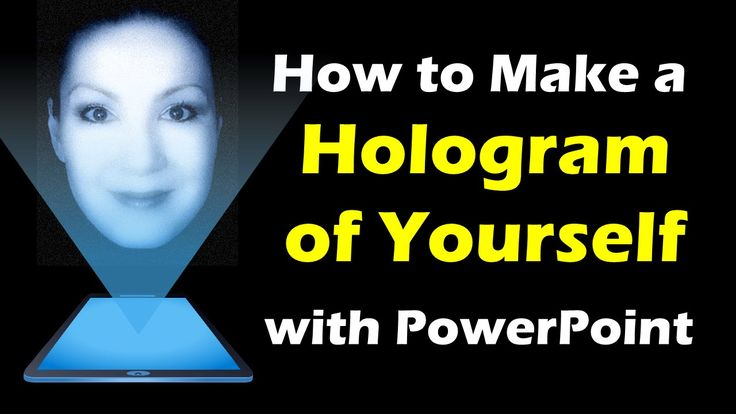 How to Make a 3D Hologram Video of Yourself... in PowerPoint!
