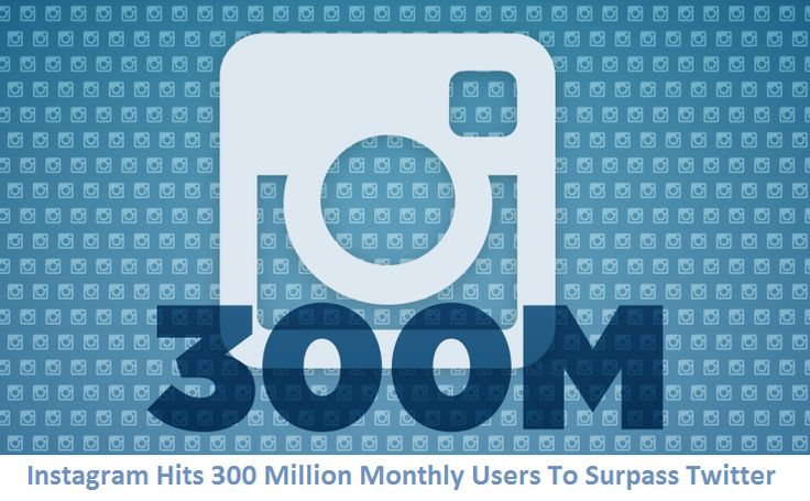 Instagram Hits 300 Million Monthly Users To Surpass Twitter. Read More: http://blog.webifly.com/reaching-the-300-million-mark-instagram-for-businesses/