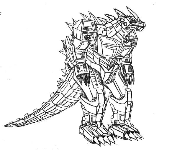 robot monster coloring pages - photo#5