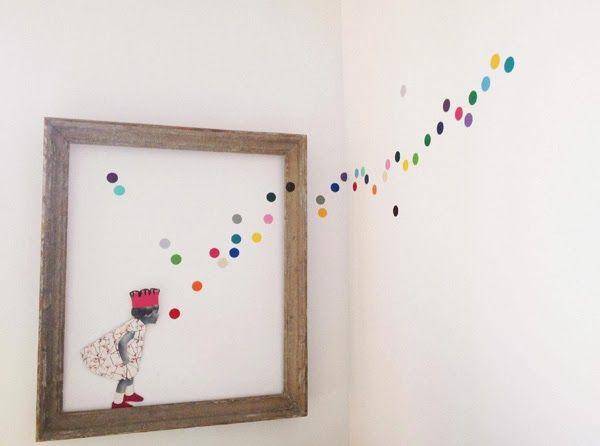 "Stickers confettis multicolores en vinyle glossy ""Studio jolis mômes"" chez Ma rue bric à brac (www.studiojolismomes.com)"