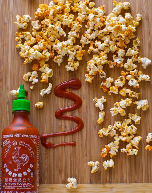 For those who love Sriracha, I'm pretty sure you can imagine how awesome this popcorn is. For those who haven't, imagine buffalo flavor but better!