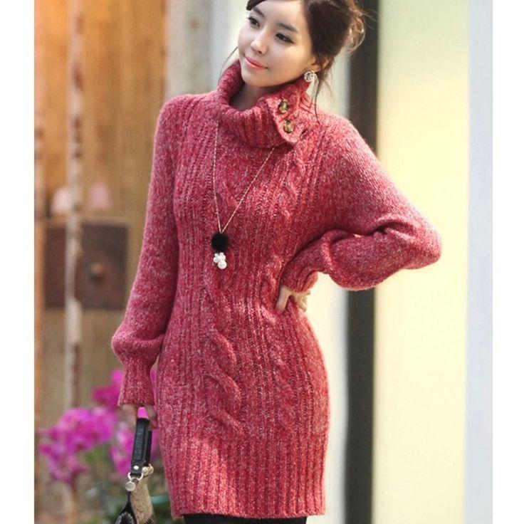 Fashion Lapel Twist Braid Long Sweater