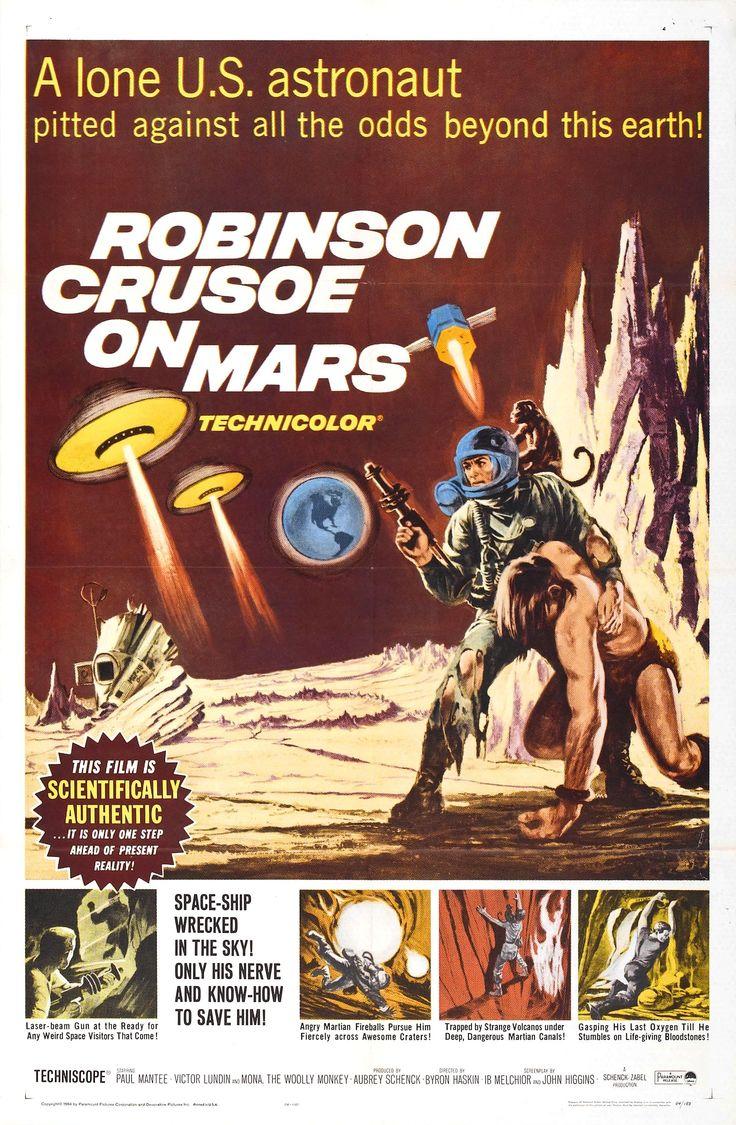 Robinson Crusoe on Mars (1964, USA) | science fiction 60s film poster