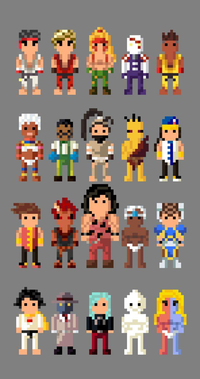 Street Fighter III Characters 8 bit by LustriousCharming on DeviantArt