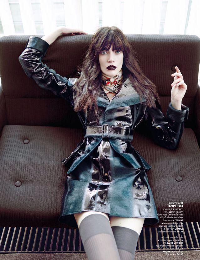 Vogue Tailândia Agosto 2014 | Patrycja Gardygajlo por Marcin Tyszka [Editorial]