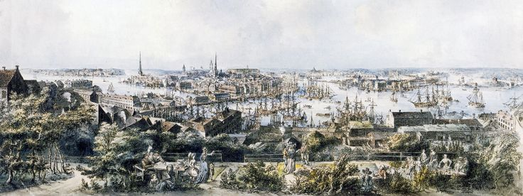 This is Carl Michael Bellmans' Stockholm. Picture by artist Elias Martin (1739-1818) circa 1790. Thord Lindé sings Fredmans Epistel No. 7. https://www.youtube.com/watch?v=AJ6vOa9G_tk