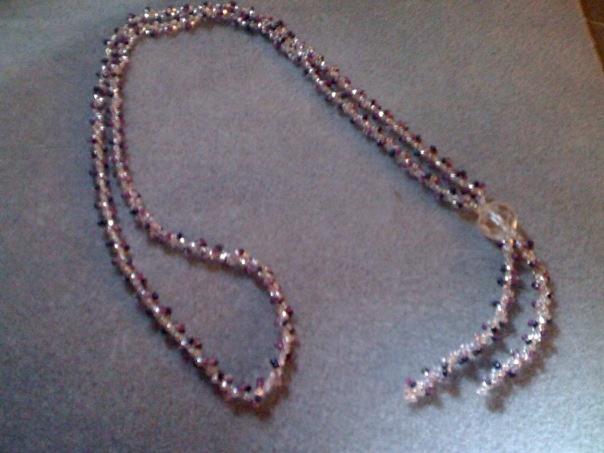 Purple spiral necklace