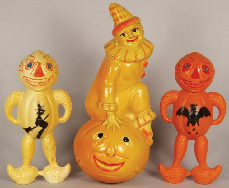 collection of vintage celluloid halloween items - Halloween Items