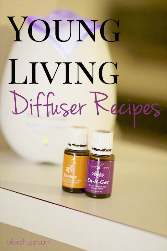 Some of my favorite Young Living essential oils diffuser recipes.