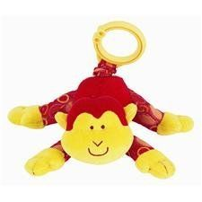 "Mary Meyer Brainy Baby Wild N Wiggly Plush Take Along Toy, Monkey by Mary Meyer. $5.01. From the Manufacturer                Mary Meyer brainy baby wild 'n wiggly stuffed animal. Red and yellow monkey, 5"", hanging from a durable ring - perfect for fastening to cribs, car seats and strollers. Pull these soft animals and watch them wiggle. The special activity cards come with suggestions for parent/child/toy interaction.                                    Product D..."