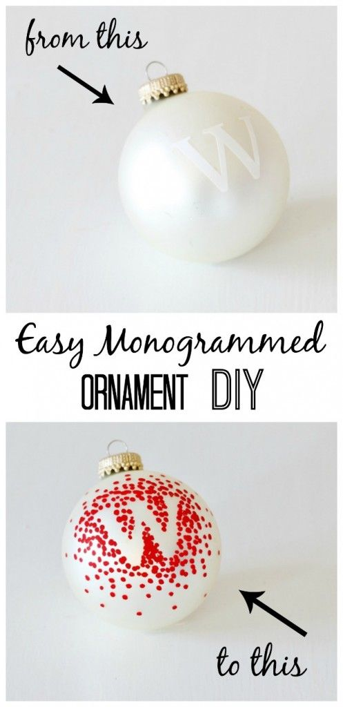Easy Last Minute Ornament Gift Idea (and a Fun Video