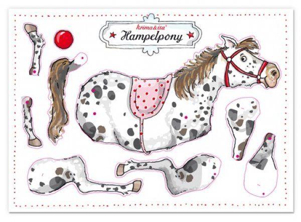 Maiglöckchen-Shop - Bastelbogen Hampelpony von krima & isa Bastelbogen Hampelpony krima&isa