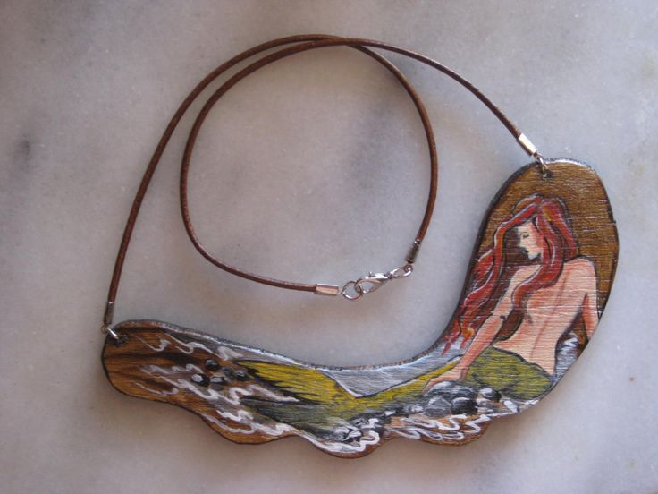 mermaid necklace by MariasArtHobby on Etsy