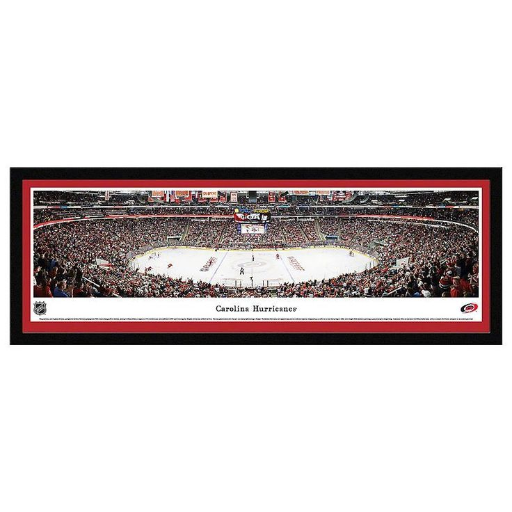 Carolina Hurricanes Hockey Arena Framed Wall Art, Multicolor