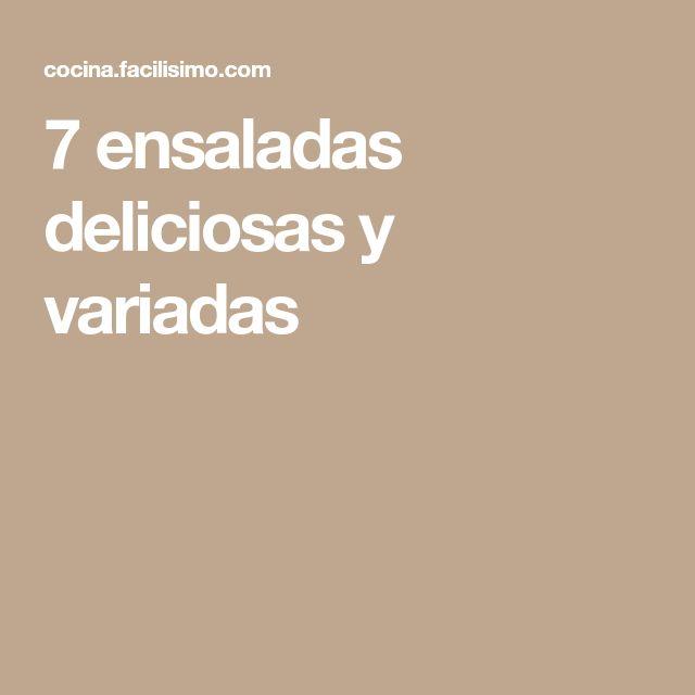 7 ensaladas deliciosas y variadas