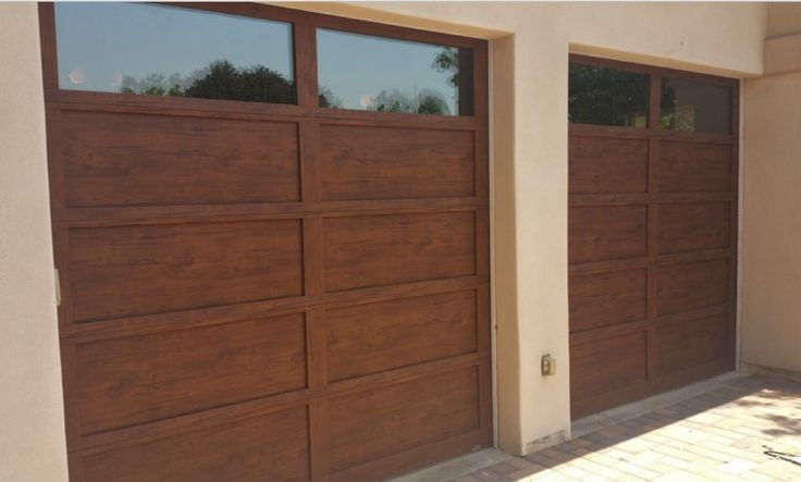 Martin - Steel - On Trac & 21 best Garage Doors - Martin - Pinnacle Faux Wood Finish images on ...