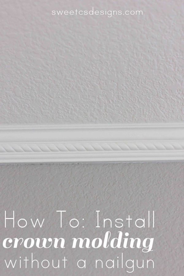Install Crown Molding Without a Nailgun