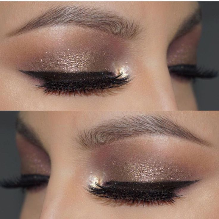 Taupe shimmer is always a good idea @veronicasmakeup used the Morphe 35T palette. If you love the 35O this will be right up your alley, there's just more cool tones so you can literally create endless looks #morphebrushes