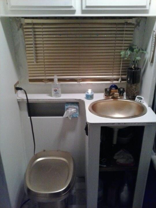77 Best Gmc Motorhome Bathroom Images On Pinterest Bathroom Bathrooms And Long Curtains