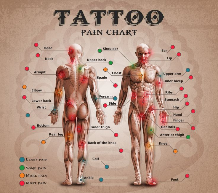 Tattoo Pain Chart except the ankle does hurt it is not a little pain it is a lot of pain