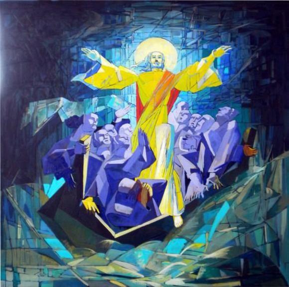 Христос и 12 Апостолов в лодке, автор Мелик Казарян. Артклуб Gallerix