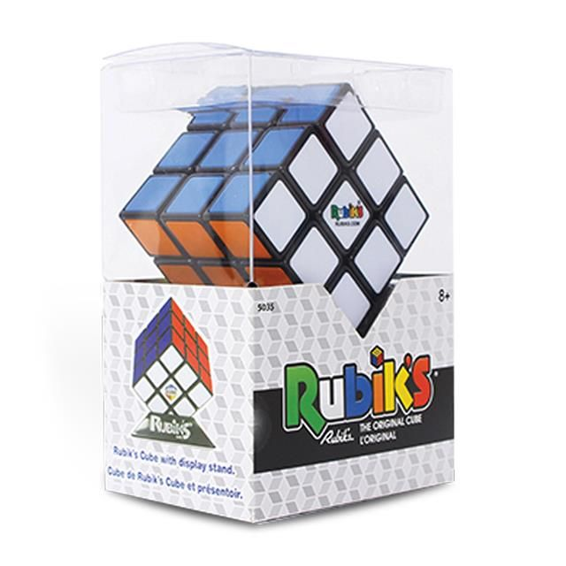 The worlds' best selling puzzle of all-time! This timeless, classic 3 x 3 version of the Rubik's Cube is a great addition to your collection. This ever popular brain challenge is colourful, highly entertaining, hands-on fun!