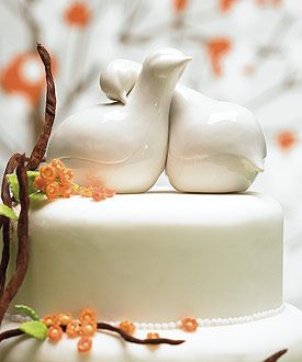 I think these as a cake topper would be lovely and go with the salt and pepper shaker favors as a nice touch.