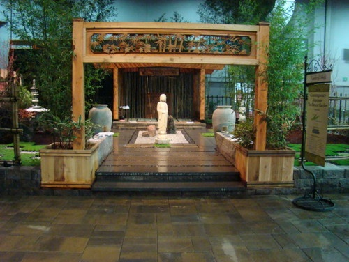 Contemporary Japanese Tea House Garden 2 asian landscape