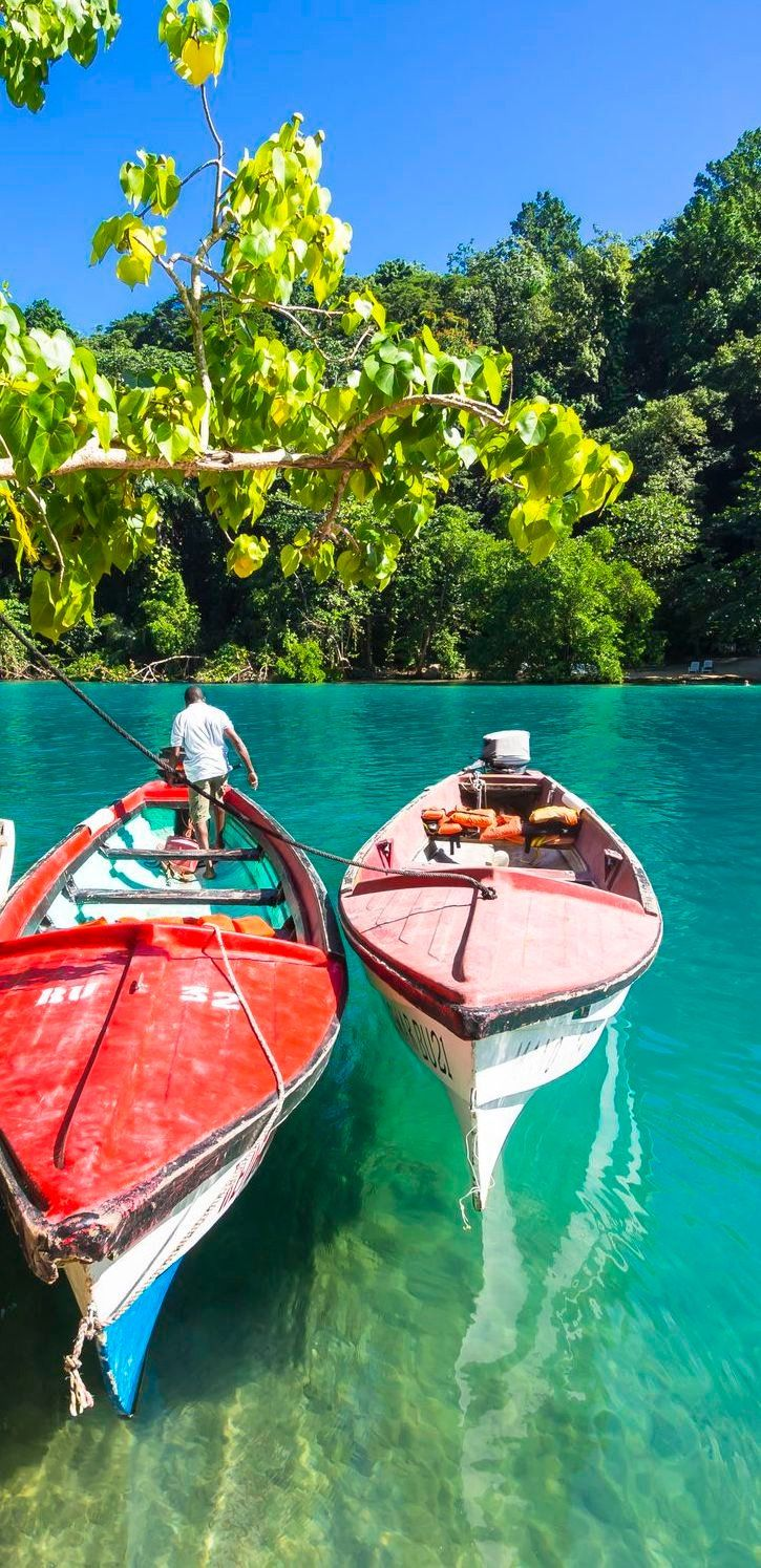 Ocho Rios, Jamaica | What would you do with 8 hours in Jamaica? Cruise with Royal Caribbean to Ocho Rios, Jamaica for an exciting river rafting expedition. Explore the calm waters as you relish in the vibrant jungle views that surround you.