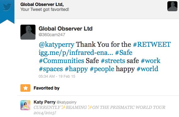 #KatyPerry Endorsement for #SaferCitiesSolution