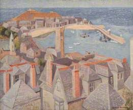 View of St Ives by Wilhelmina Banks-Graham