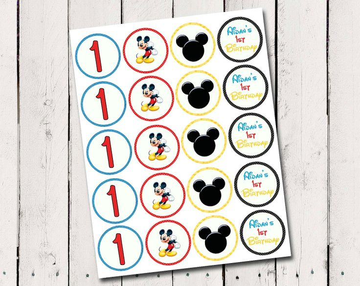 free printable mickey mouse cupcake toppers | Mickey Mouse ...