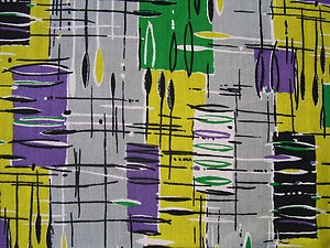 50s 60s vintage retro curtain fabric French abstract modernist Capri http://decdesignecasa.blogspot.it/