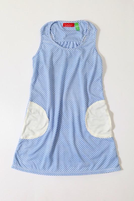 Bakker made with love - Zomerkleedje met blauwe print (3 t/m 8 jaar)   Rokken en jurken   Calomel